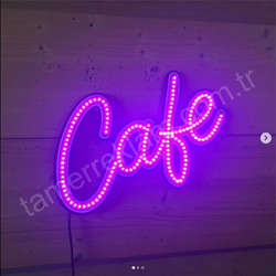 Led Cafe tabelası renk Purple