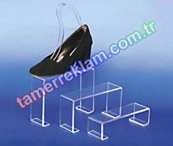 Pleksiglass Ayakkabılık 3 lü Taban Akrilik