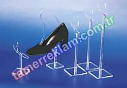 Pleksiglass Ayakkabılık Farklı boylarda Fincan Stand