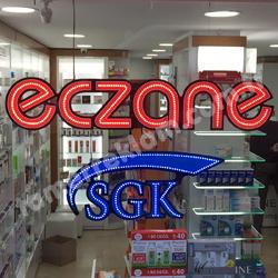 LED Eczane Tabelası 1340 x 260 mm, SGK 800 x 350 mm