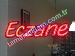 LED Eczane Tabelası (750 x 195 mm) Kırmızı