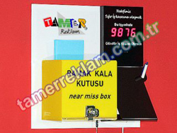 Near Miss Box, Accident-free days Counter